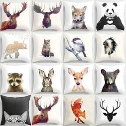 Cute Animal Pillow Cover Throw Pillow Case Sofa Cushion Cove