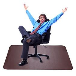 Dark Cherry Office Chair Mat and Under Computer Desk Pad for