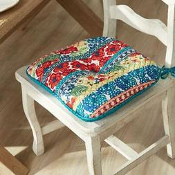 Dazzling Dahlias Quilted Chair Pad 16 x 17 inch Reversible K