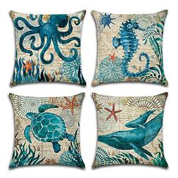 decorative ocean park theme pillow