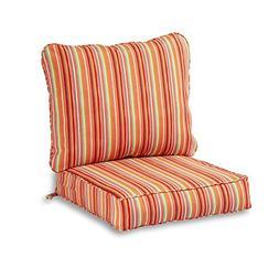 Greendale Home Fashions Deep Seat Cushion Set in Coastal Str