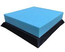 QQbed 2 Pack Deep Seat Gel Cooling Memory Foam Seat Cushions