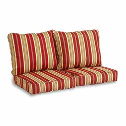 deep seat loveseat cushion set roma stripe