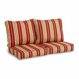 Greendale Home Fashions Deep Seat Loveseat Cushion Set, Roma