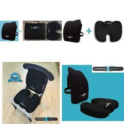 Xtreme Comforts Deluxe Coccyx Orthopedic Memory Foam Seat Cu