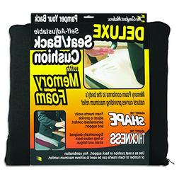 The ComfortMakers Deluxe Self-Adjustable Seat Back Cushion w