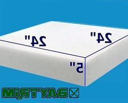 """5"""" x 24"""" x 24"""" BayTrim High Density Upholstery Foam Cushion"""