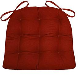 """Barnett Products Dining Chair Pad with Ties - Checkers 1/4"""""""