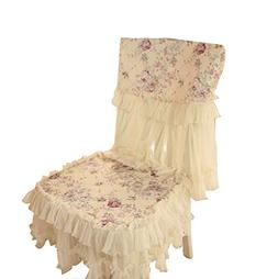 PANDA SUPERSTORE A Pair European Style Lace Chair Pads Soft