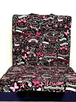 Double Bingo Seat Cushion - Breast Cancer Pattern - Purple