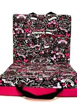 Double Bingo Seat Cushion - Breast Cancer Pattern - Fuchsia