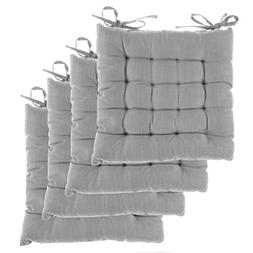 Dream Home, Set of 4, Indoor Chair Pads Inches Square Tufted