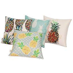 Miracille Durable Colorful Pineapple Design Pillowcase Cushi
