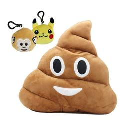 Emoji Poop Pillow Plush Round Cushion Stuffed Toy Doll for K