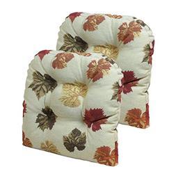 Klear Vu Falling Dining Chair Pads, Leaves