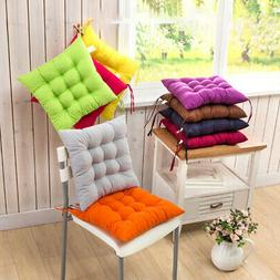 Velvet Padded Cushion Chair Seat Pads With Ties Garden Dinin
