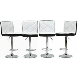 Magshion Faux Leather Bar Stools Adjustable 360 Degree Swive