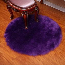 Faux Sheepskin Fur Rug Soft Round Faux Fur Sheepskin Seat Cu