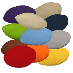 Flat Round Shape Cover*A-Grade Cotton Canvas Floor Seat Chai