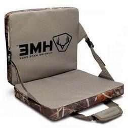 HME FLDSC Folding Seat Hunting Weather Resistant Camo Hunter