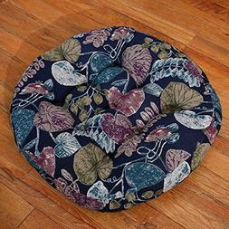 Floral Printed Cotton Linen Floor Pillow Cushion Japanese Ro