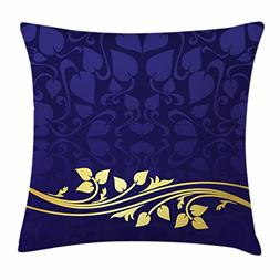 Ambesonne Floral Throw Pillow Cushion Cover, Romantic Royal