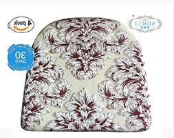 "Sideli Foam Kitchen Chair Pads Non slip 16""x16"" - Set of"