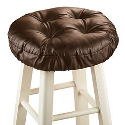 Foam-Padded Thick Waterproof Barstool Seat Cover Cushion wit