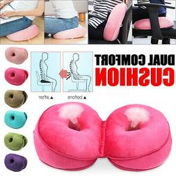 Foldable Dual Comfort Cushion Lift Hips Up Seat Memory Spong