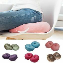 Memory Dual Foam Pillow Comfort Cushion Lift Hips-Up Seat Or