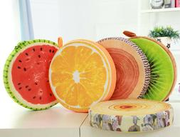 Fruit Pattern Floor Pillows Cover  Round Seat Cushion Cover
