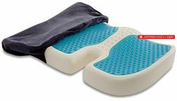 TravelMate Gel-Enhanced Memory Foam Seat Cushion – Perfect