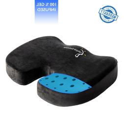gel infused memory foam seat cushion ventilated