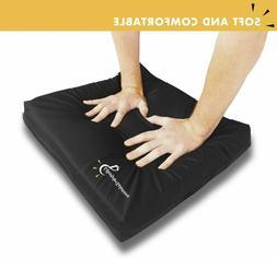 Gel Memory Foam Seat Cushion, Enhanced Pad for Wheelchair, C