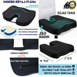 Gel Seat Cushion For Long Sitting, Orthopedic Gel  Memory Fo