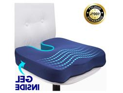 Gel Seat Cushion  Long Sitting Orthopedic Gel & Memory Foam