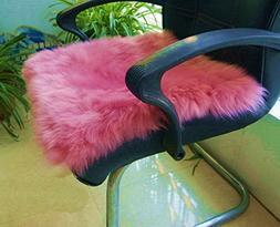 IMQOQ Genuine Sheepskin Long Wool Chair Sofa Cushion Pad Car