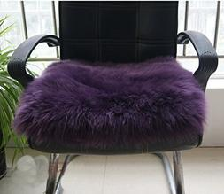 IMQOQ Genuine Sheepskin Long Wool Chair Sofa Cushion Pad Car