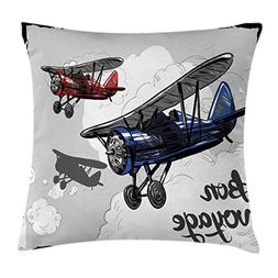Ambesonne Going Away Party Throw Pillow Cushion Cover, Retro