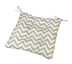 Gray / Grey and White Chevron / Zig Zag Universal Tufted Sea