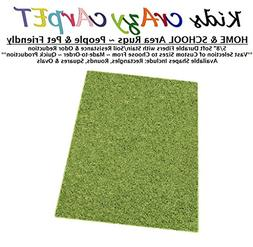 4'x12' - GREMLIN GREEN ~ Kids crAzy cArpET Home & School Are