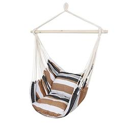 Bormart Hanging Rope Hammock Chair Large Cotton Weave Porch