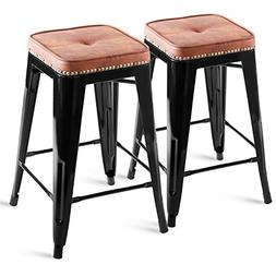 "Harper & Bright Designs by Merax Metal Bar Stool 24"" High To"