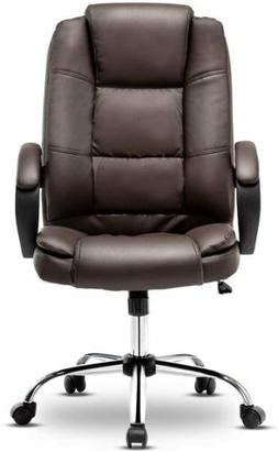 High Back PU Leather Office Chair Executive Office Desk Seat
