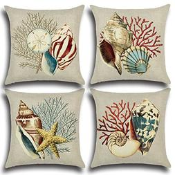 mixinni Decorative Pillowcase Covers with Zipper Standard 4