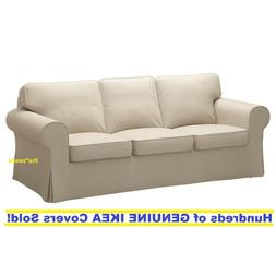 Ikea EKTORP Three  Seat Sofa Slipcover Cover NORDVALLA DARK