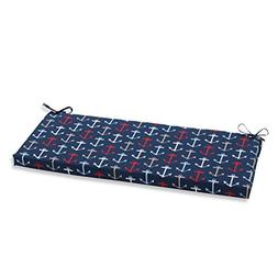 Pillow Perfect Outdoor/Indoor Anchor Allover Arbor Bench Cus
