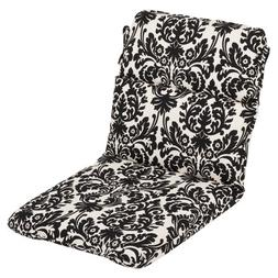 Pillow Perfect Indoor/Outdoor Black/Beige Damask Chair Cushi