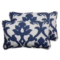 Pillow Perfect Outdoor Bosco Corded Rectangular Throw Pillow