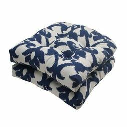 Pillow Perfect Outdoor/ Indoor Bosco Navy Wicker Seat Cushio